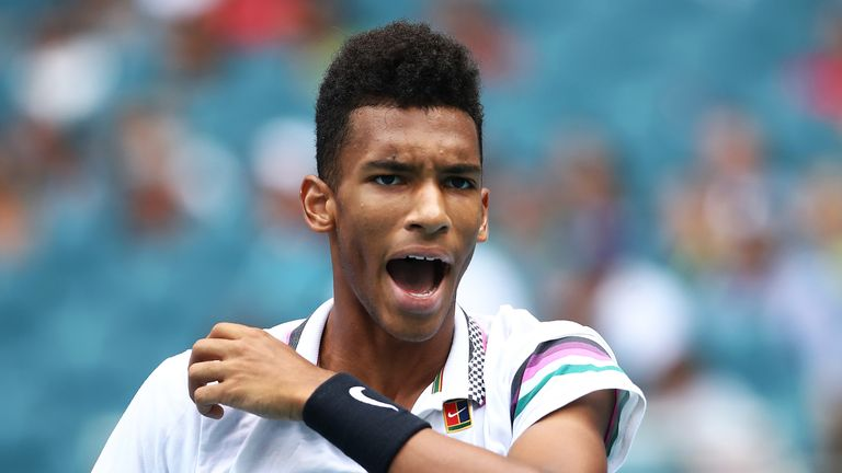 Felix Auger-Aliassime was unable to convert on breaks in both sets
