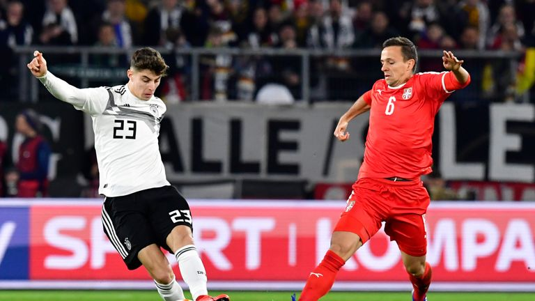 Havertz has already caught the eye in a Germany shirt