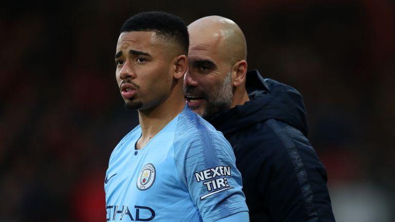 Guardiola is confident Gabriel Jesus can lead the line in Aguero's absence