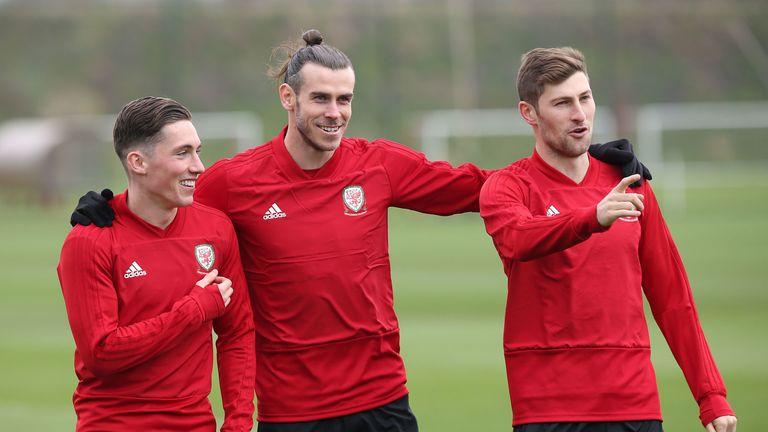 Gareth Bale Wales training