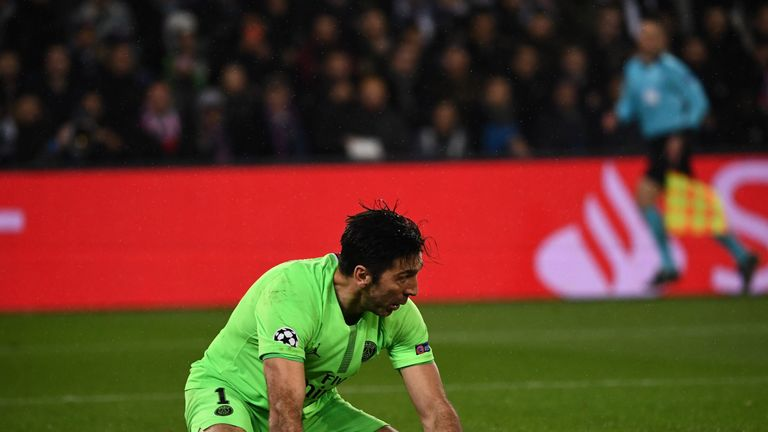 Gianluigi Buffon's error gifted Manchester United a 2-1 lead on the night against PSG
