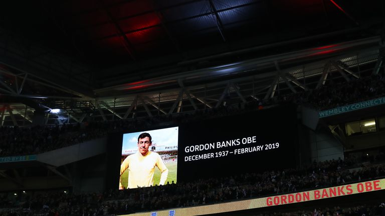 England honour Gordon Banks at sold-out Wembley before European Qualifier vs Czech Republic