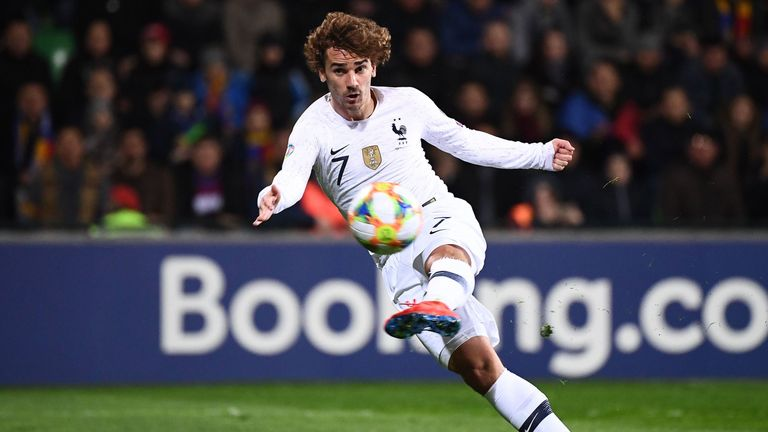 Antoine Griezmann volleys France into an early lead in Moldova