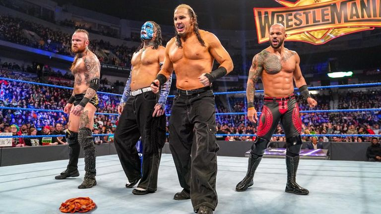 The Hardy Boyz helped Aleister Black and Ricochet fend off a four-on-two attack after their win over The Bar