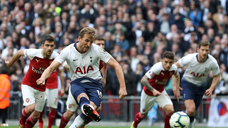 Harry Kane equalises from the penalty spot
