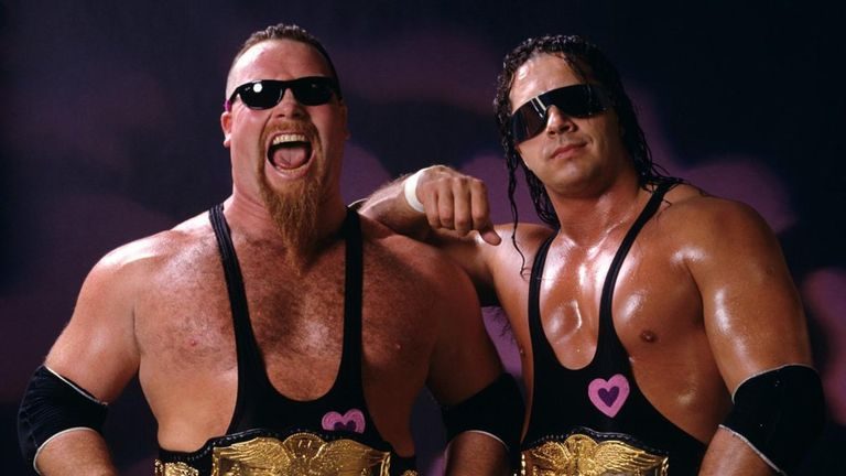 Hart and Jim 'The Anvil' Neidhart were being inducted as the Hart Foundation tag team