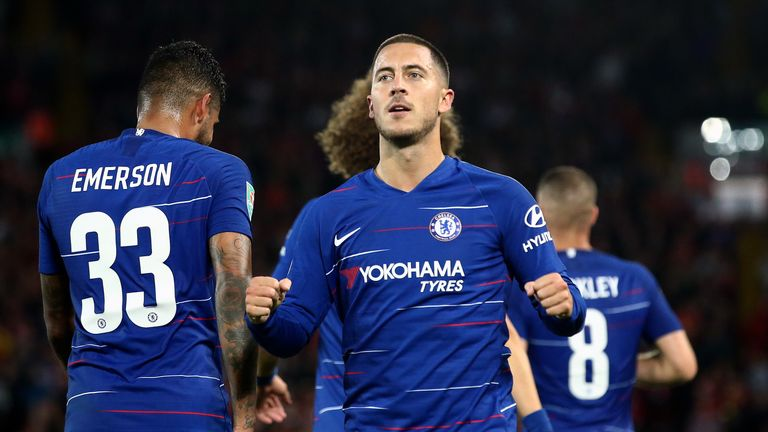 Hazard has contributed to 24 goals for Chelsea this campaign