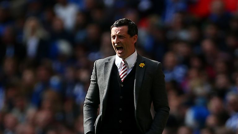 Sunderland boss Jack Ross during the 2019 Checkatrade Trophy final at Wembley