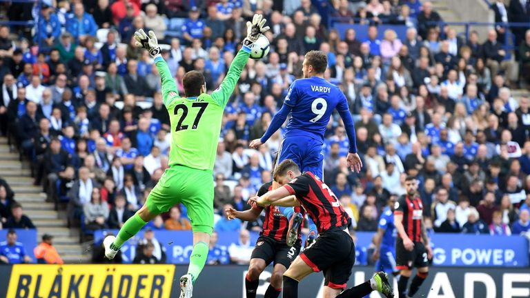 Vardy secured the points with a flying header