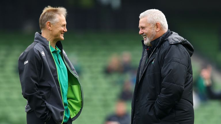 Joe Schmidt (L) and Warren Gatland