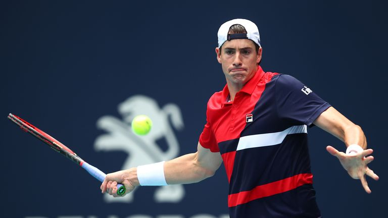 Isner has won all nine tiebreaks he has played during the tournament