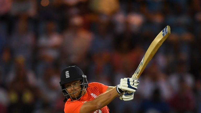 Jonny Bairstow opened the batting for England against Windies in the first T20