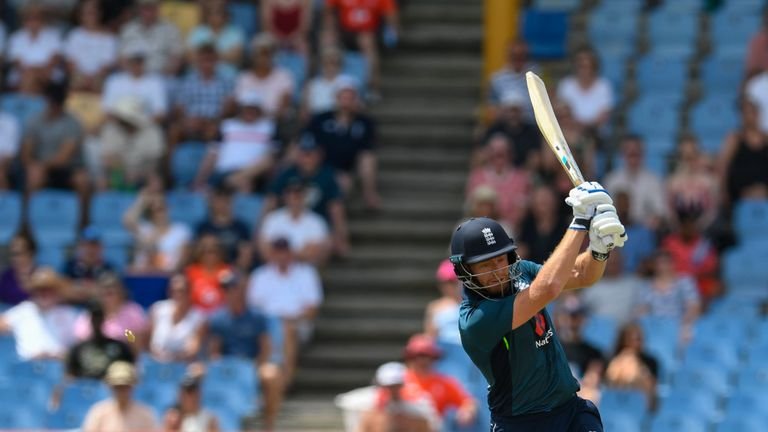 Jonny Bairstow bowled while batting for England in fifth ODI against Windies