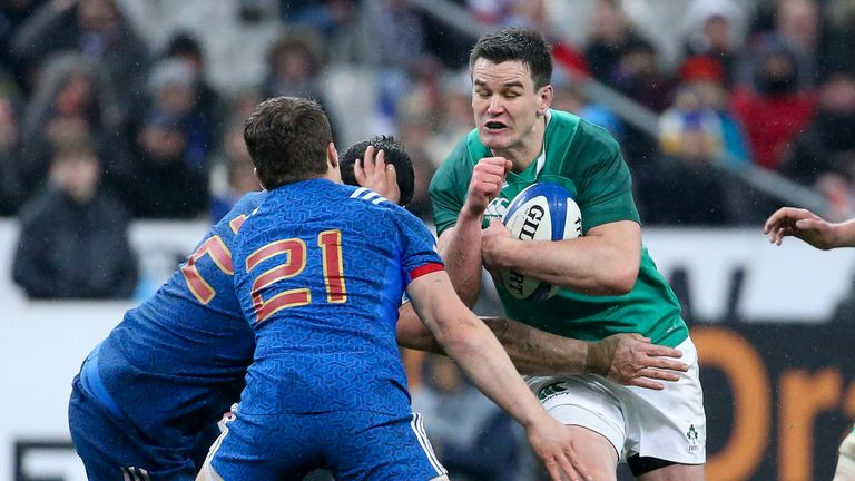Johnny Sexton secured victory last year for Ireland in Paris last year