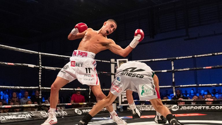 Dominguez was forced to the canvas in the third round