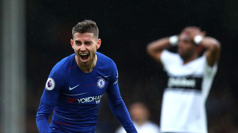 Jorginho gives Chelsea lead over Fulham