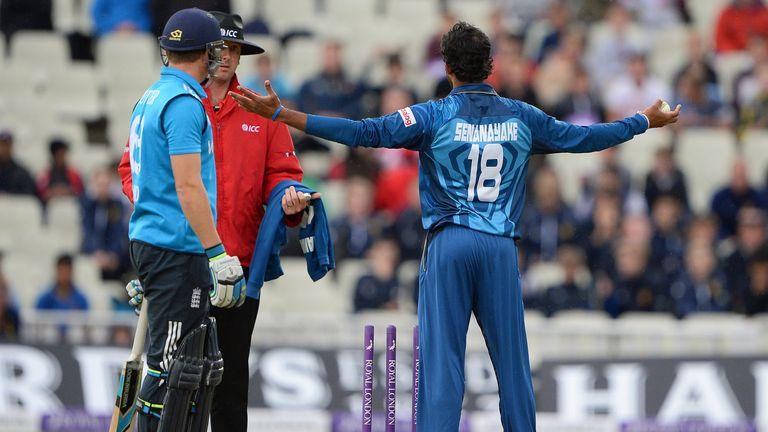 Jos Buttler is mankaded against Sri Lanka in 2014