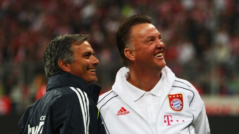 Van Gaal and Mourinho worked together at Barcelona before facing each other several times through their managerial careers