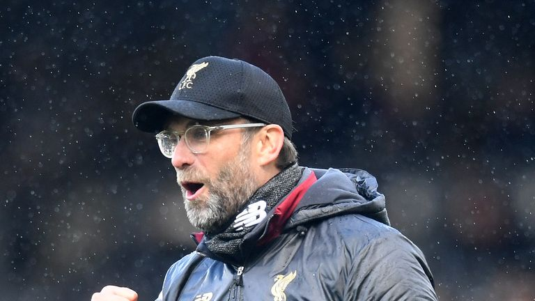 Jurgen Klopp's Liverpool will have played two games more than City by mid-April