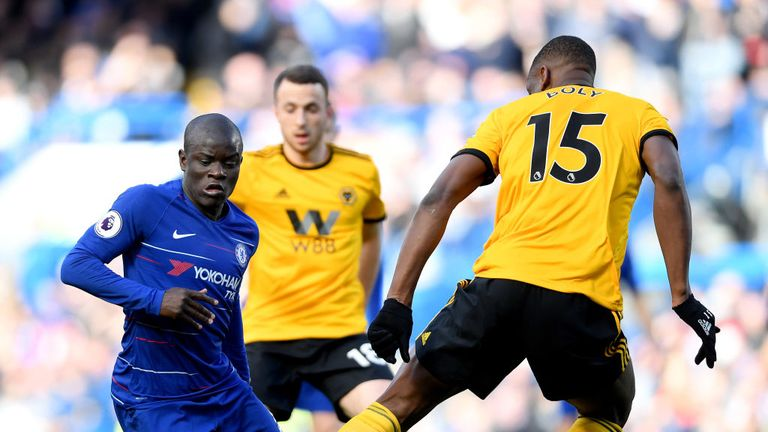 Wolves had far less of the ball than Chelsea