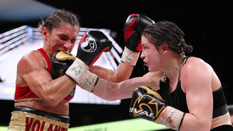 Taylor won the WBO belt in her most recent fight