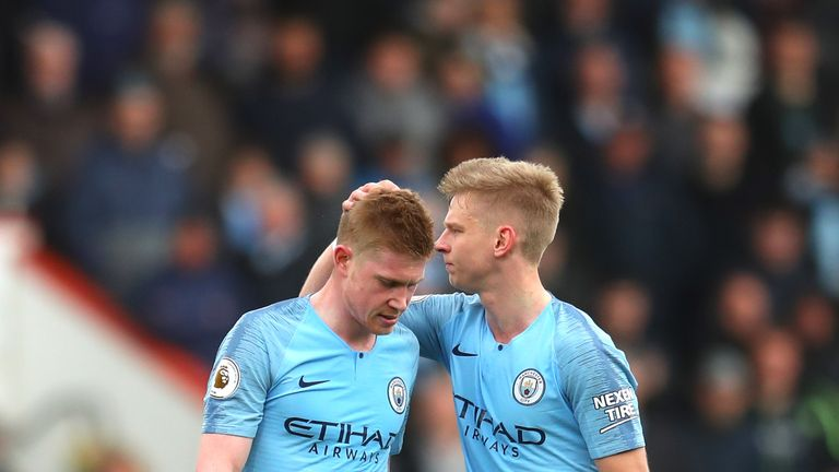 Kevin De Bruyne will be sidelined for Manchester City this weekend