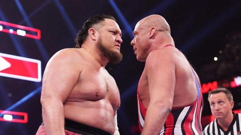 Kurt Angle faced Samoa Joe on Raw last night and tonight faces another old foe - AJ Styles - on SmackDown