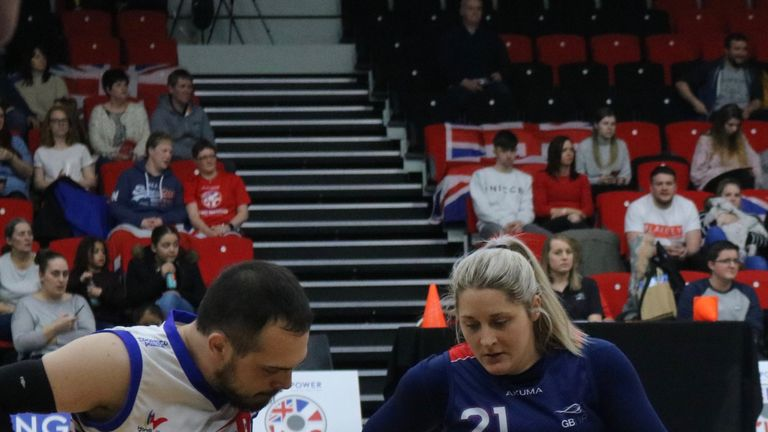 Kylie Grimes represented Great Britain in the recent Quad Nations tournament