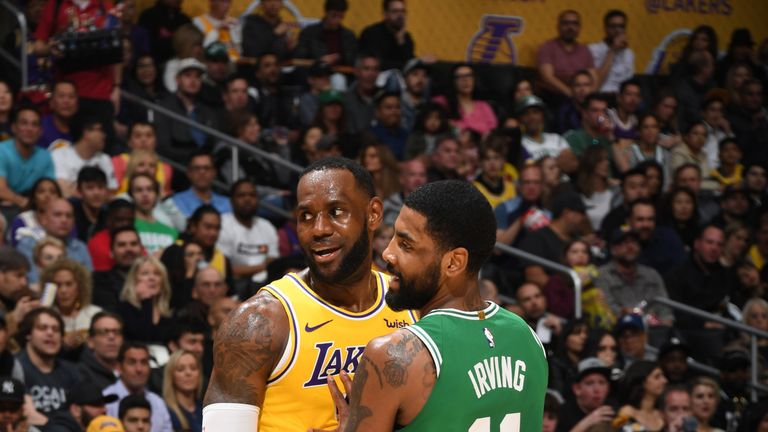 60d2a968a Kyrie Irving and LeBron James each score 30 points as Boston Celtics ...