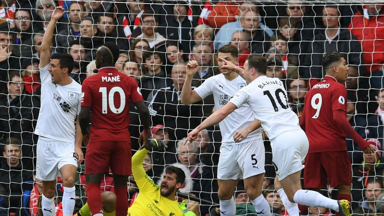 Burnley were unable to get past Liverpool on Sunday