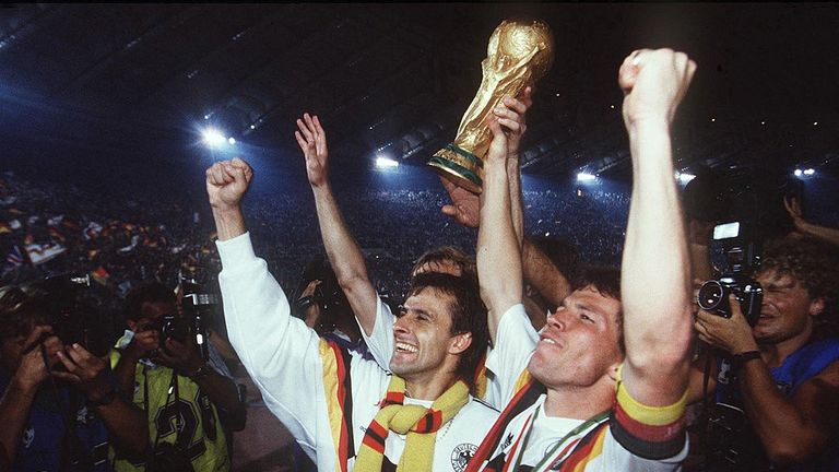 Lothar Matthaus captained Germany to World Cup glory in 1990