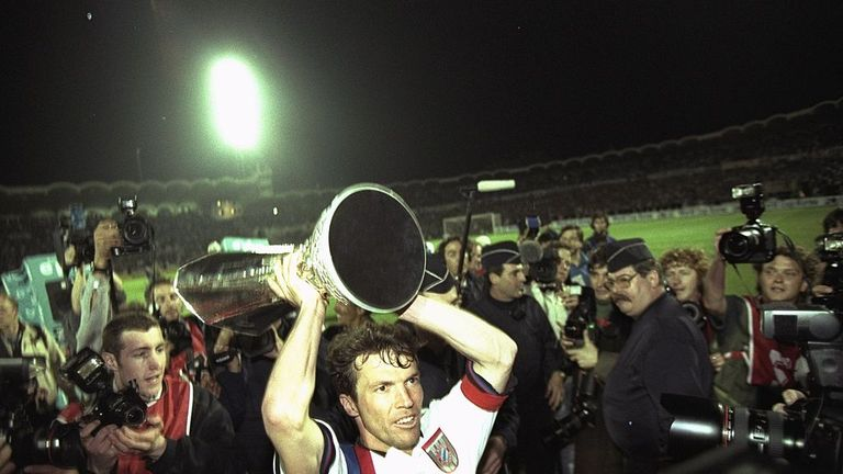 Matthaus won the UEFA Cup with Bayern but never the Champions League