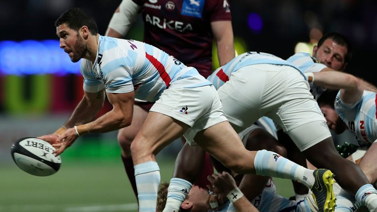 Scrum-half Maxime Machenaud is the conductor for Racing 92