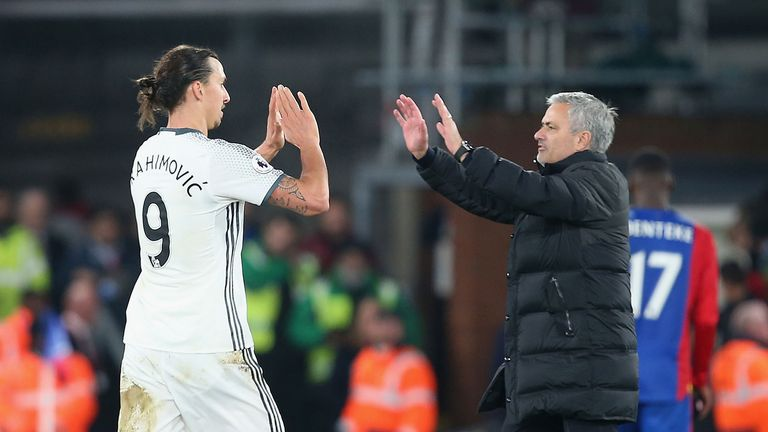 Ibrahimovic scored 29 times in 53 appearances for Manchester United under  Jose Mourinho dc185fade750