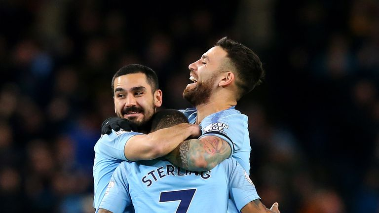 Manchester City saw off Watford thanks to Raheem Sterling's hat-trick
