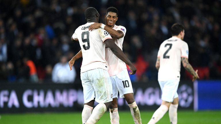 Rashford and Romelu Lukaku were both on the scoresheet as United triumphed against Paris Saint-Germain