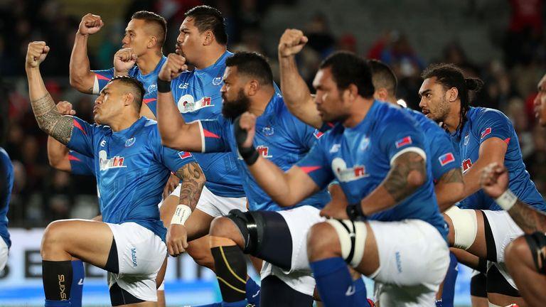 Samoa lay down the challenge with the Manu Siva Tau