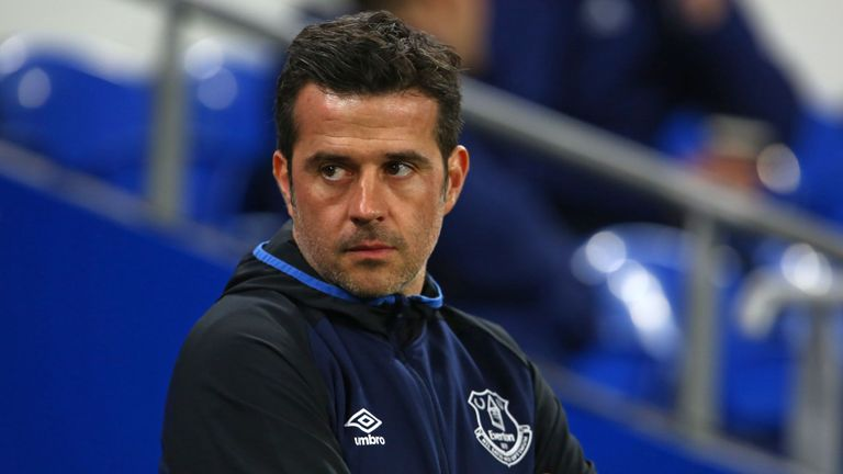Kurt Zouma believes Everton's future is bright under Marco Silva (pictured)