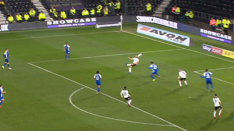 Mason Bennett scores wonder goal against Wigan