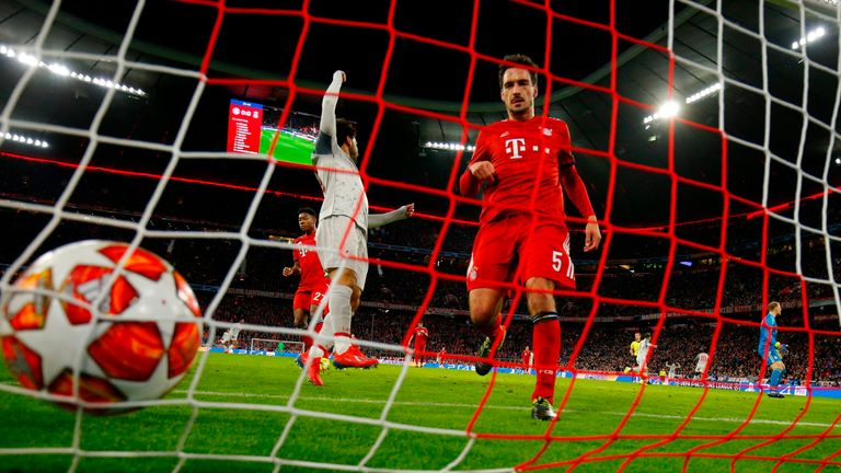 Mats Hummels was beaten by Virgil Van Dijk for the Dutchman to put Liverpool ahead on the night