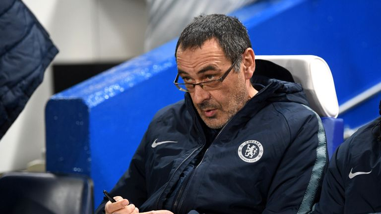 Maurizio Sarri led his Chelsea side to a third straight win on Thursday night