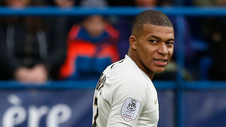 Mbappe has scored 26 goals in Ligue 1 this season