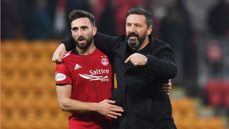 Aberdeen boss Derek McInnes has sprung to the defence of Graeme Shinnie