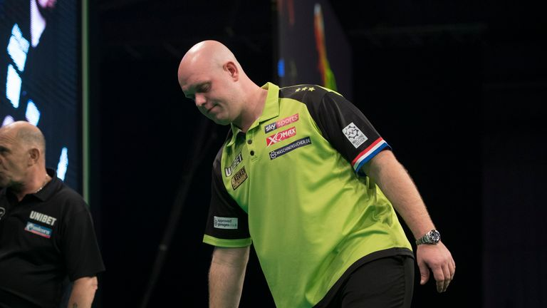 Van Gerwen's 21-match winning run at this tournament was ended by Steve West last year