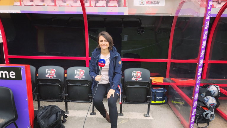Michelle Owen reports and presents for Sky Sports News, Soccer Saturday and Sky News