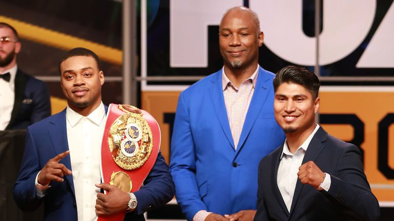 WBC lightweight champion Mikey Garcia will step up two divisions to take on IBF welterweight title holder Errol Spence Jr on Saturday