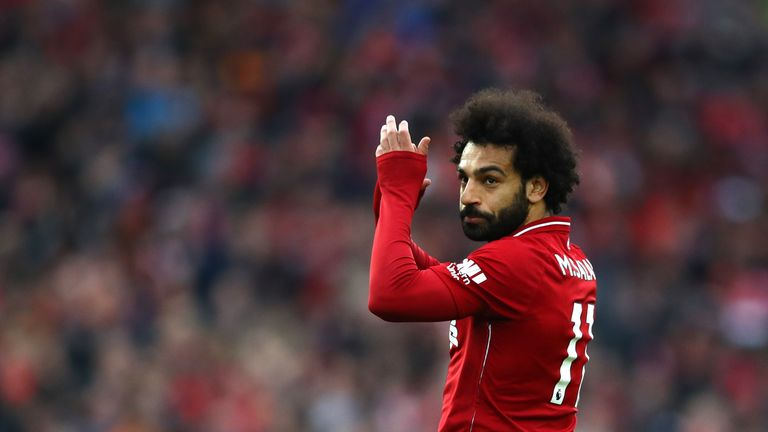 Mohamed Salah Liverpool v Tottenham