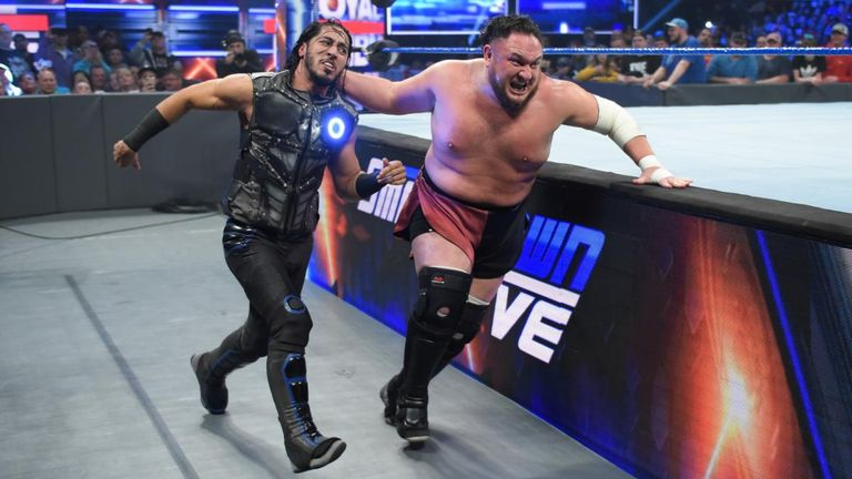 Ali was initially involved in a program with Samoa Joe after his arrival on SmackDown