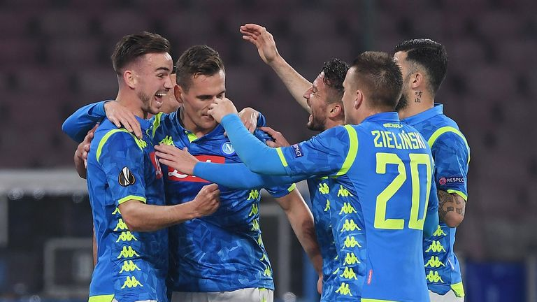 Arkadiusz Milik was among the scorers as Napoli eased past Red Bull Salzburg on Thursday