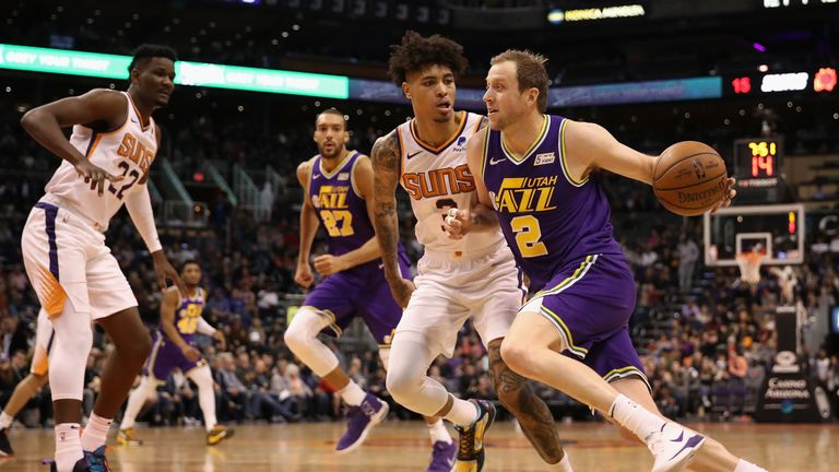 utah jazz v phoenix suns in the NBA